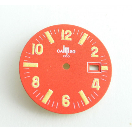 Lip orange old dial - diameter 26,58 mm