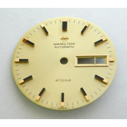 Cadran doré HAMILTON Elipsa 29.50mm