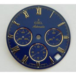 """Cadran EBEL pour """"El Primero"""" bleu 28,52 mm"""