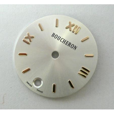 Round silver SOLIS BOUCHERON dial - 20mm
