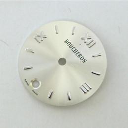 cadran SOLIS Boucheron argenté rond avec dateur - 20mm