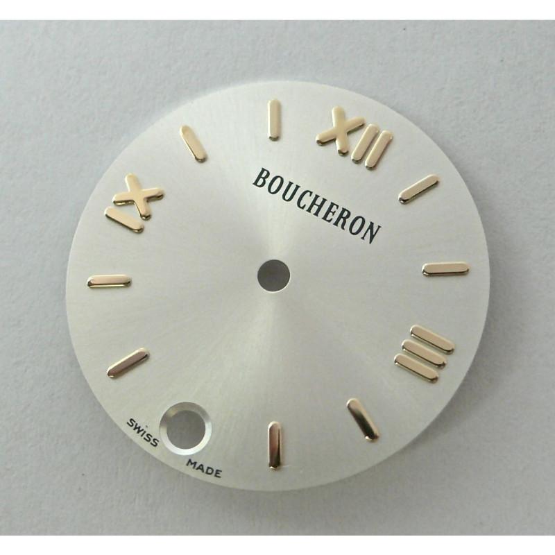 cadran SOLIS Boucheron argenté rond avec dateur - 23mm
