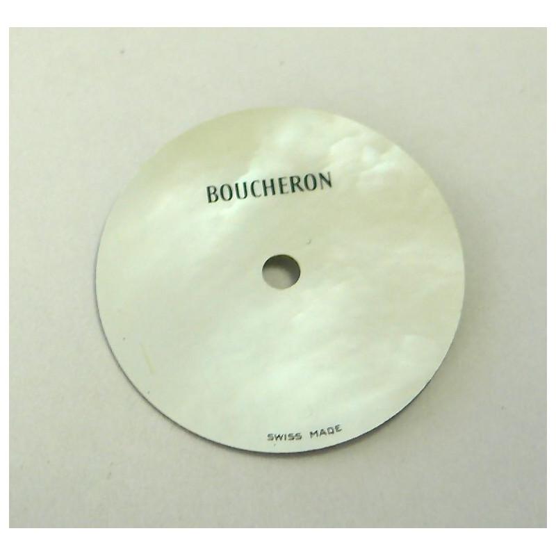 cadran SOLIS Boucheron nacré rond avec dateur - 17,5mm