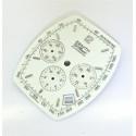 Cadran Zenith El Primero chronographe Tonneau grande taille