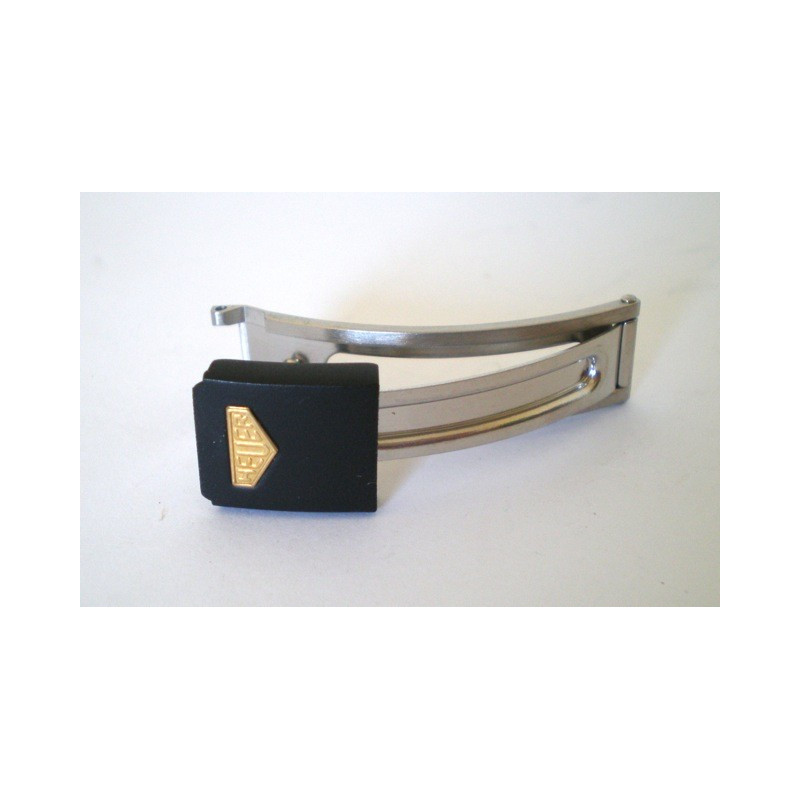 fermoir HEUER noir/doré 10mm