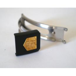 fermoir TAG HEUER noir/doré 10mm