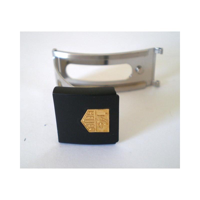 fermoir TAG HEUER noir/doré 15mm